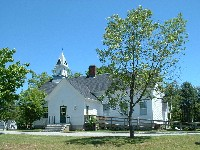 Photo of the Andover, NH town offices and library.