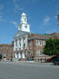 Photo of the Lebanon, NH town hall.