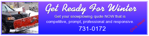 Competitive, prompt, professional, responsive snowplowing in the greater Concord NH area.